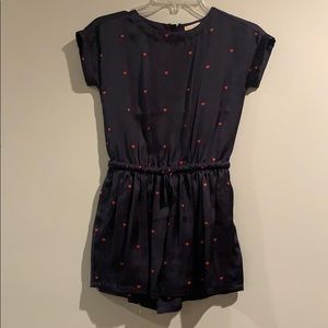 Crewcuts Navy and Red Romper
